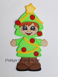 Christmas Tree Boy Paper Piecing