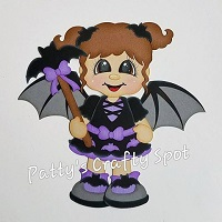 Girl Bat-itude Halloween Paper Piecing by Pattys Crafty Spot