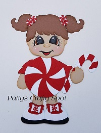 Peppermint Girl Christmas Paper Piecing