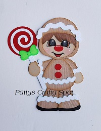 Christmas Gingerbread Boy Paper Piecing