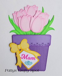 Mothers Day Pink Tulip Gift Card Holder