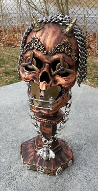 Speak No Evil Steampunk Skull by Pattys Crafty Spot