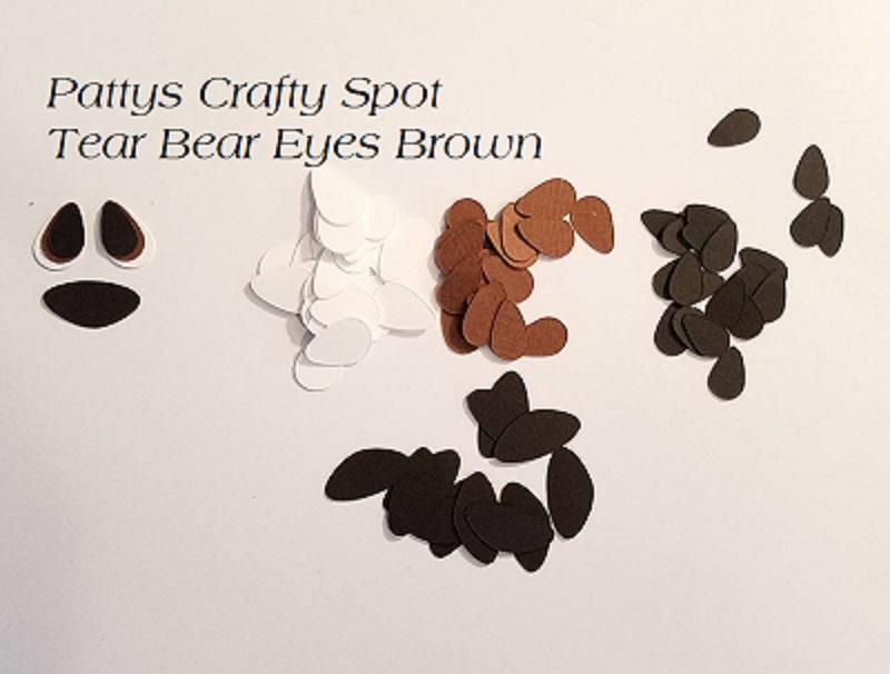 Die Cut Eyes Brown for Tear Bears