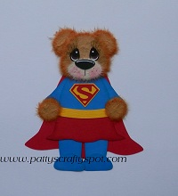 Super Woman Tear Bear