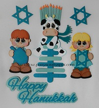 Hanukkah Boy Girl Cow