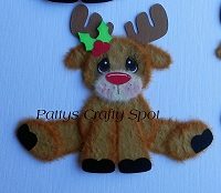 Sitting Legs Out Rudolph Reindeer Tear Bear