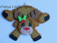 Bent over Rudolph Reindeer Tear Bear