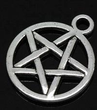 Silver Pentagram Charm