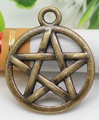 Bronze Pentagram Charm