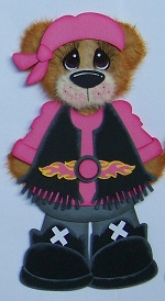 Harley Biker Bear Girl