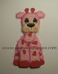 Pink Giraffe Tear Bear