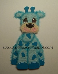Blue Giraffe Tear Bear