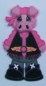 Harley Hog Biker Girl